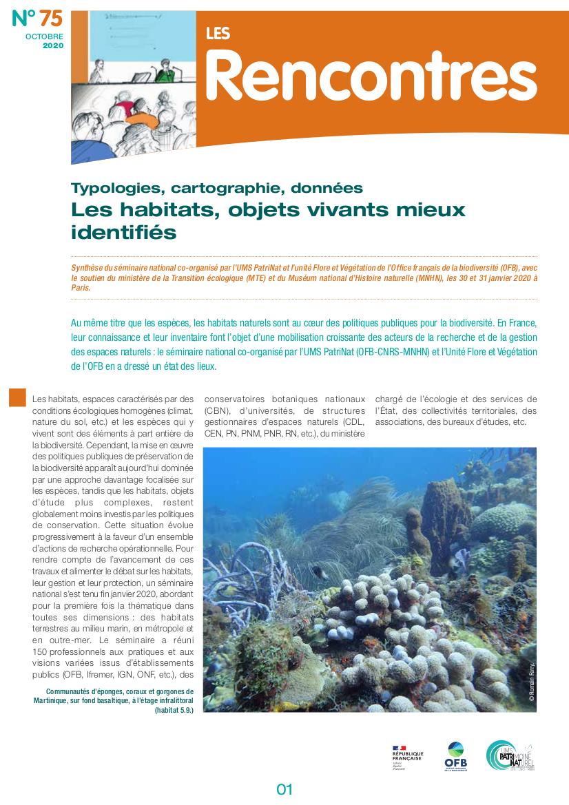 Les habitats, objets vivants mieux identifiés