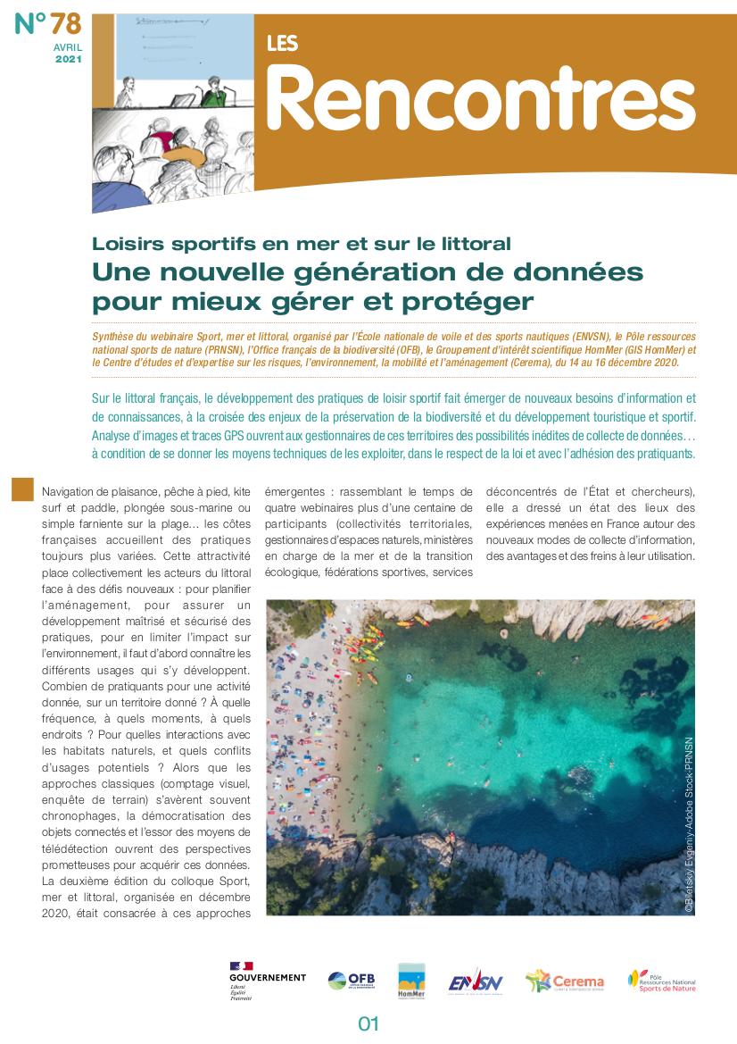 Loisirs sportifs en mer et sur le littoral – Une nouvelle génération de données pour mieux gérer et protéger
